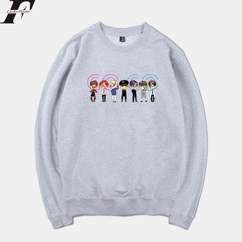 KPOP BTS Bangtan Boys Army Hip Hop Style LUCKYFRIDAYF 2018  GOGO K-pop Spring Warm Sweatshirt Men/Women Long Sleeve Print Tracksuit Clothes Plus Size AT_89_10