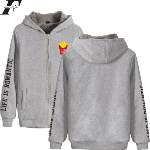 KPOP BTS Bangtan Boys Army  LUCKYFRIDAYF 2018  Good Life Winter Women/Men Zipper Printed Hoodies Sweatshirt Casual Thicken Clothes Plus Size 4XL AT_89_10