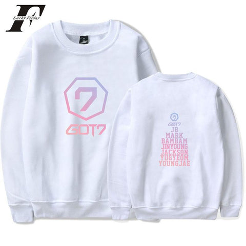 KPOP BTS Bangtan Boys Army  2018 harajuku GOT7 hoodies Sweatshirts women men hit Hot cotton long sleeve Hoodie Sweatshirts Winter Pullover GOT7 clothes AT_89_10