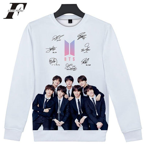 KPOP BTS Bangtan Boys Army 2018    Boys 3D hoodie Sweatshirt Capless  love yourself Women/Men hit hop korean Sweatshirt Closthes plus size AT_89_10
