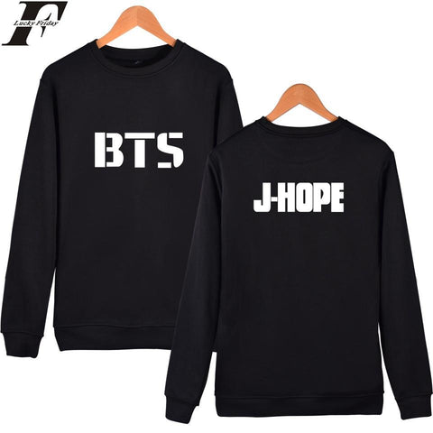 KPOP BTS Bangtan Boys Army Popular LUCKYFRIDAYF   Capelss Harajuku Hoodies Women/Men Korean Bagtan Hip Hop Sweatshirt Hoodies Winter Fans Clothes AT_89_10