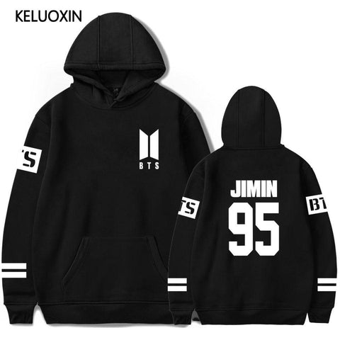 KPOP BTS Bangtan Boys Army KELUOXIN   Sweatshirt Women Men Love Yourself Hoodies Pullover Oversized Sweatshirt Hip Hop Streetwear Fleece Tracksuit AT_89_10