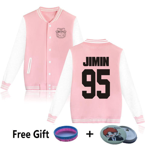 KPOP BTS Bangtan Boys Army   Boys Harajuku Baseball jacket Women's k-pop clothes Sweatshirts Women/men Winter Casual JIMIN95  oversized Coat AT_89_10