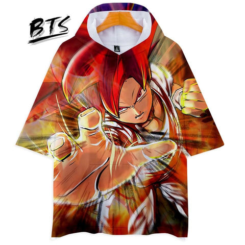 KPOP BTS Bangtan Boys Army  Hot Sale Dragon Ball Harajuku Hoodies Women Clothes 2018 Short Sleeve Hooded Hip Hop Casual Tops Print Plus Size Q1046-Q1054 AT_89_10
