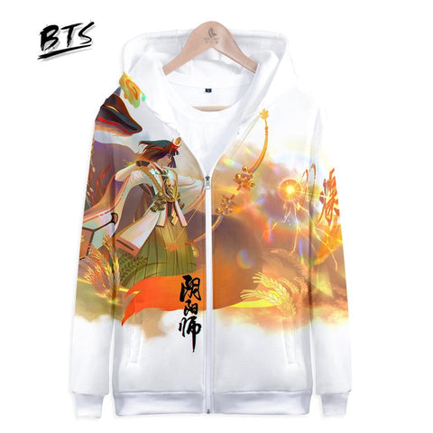 KPOP BTS Bangtan Boys Army  Hot Sale Harajuku Hoodies Sweatshirts 3D Onmyoji Long Sleeve Zipper Women Clothes 2018 Hip Hop Kawaii Plus Size Q1055-Q1061 AT_89_10