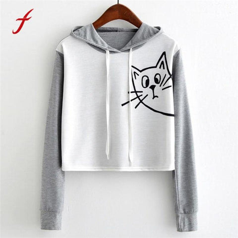 KPOP BTS Bangtan Boys Army feitong 2018  Sweatshirts New Fashion Autumn Hoodies Womens Casual Long Sleeve Cat Print Sweatshirt Hooded Pullover Tops AT_89_10