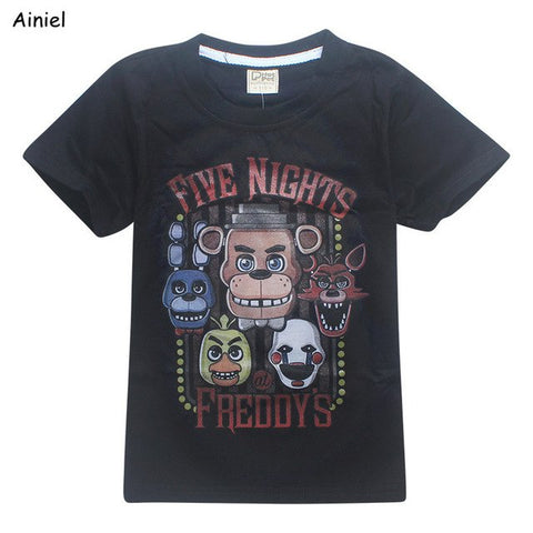 Ainiel 5 Freddys Tops Tee 2018 Summer Children Clothes Five Nights At Freddy's T-Shirts Kids T Shirts Boys Clothing Roblox Poli