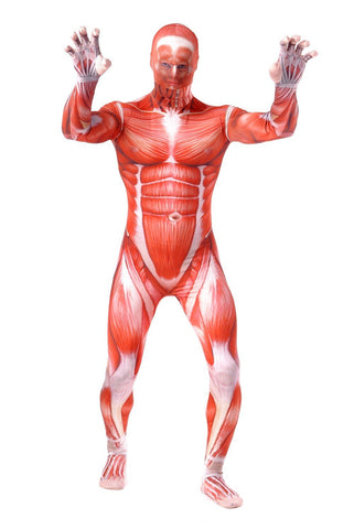 Cool Attack On Titan 3 Men Cosplay Costumes Muscle Suit Bodysuit