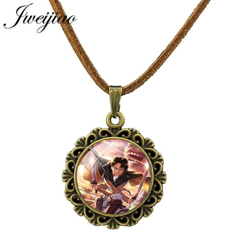 Cool Attack on Titan JWEIJIAO New  Velvet Necklace Vintage Lace Pendant Chokers Statement Rope Chain Necklaces Party Jewelry BTS27 AT_90_11