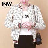 Trendy Fall Women Basic Jackets Casual Patterns Print Jacket Femme Chaquetas Mujer 2019 Autumn Long Sleeve Outerwear Jacket Coat Female AT_94_13
