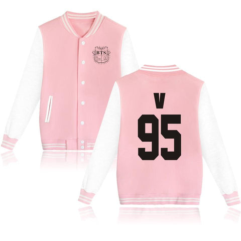 Trendy 2018 BTS Jackets women Pink Cotton women's/men's jacket Kpop SUGA 93 JUNG KOOK Jacket Coat Bangtan women/men Jacket Clothes AT_94_13