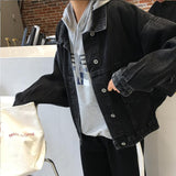 Trendy Black Long Sleeve Women Denim Coat 2018 Vintage Chic Loose Jeans Jacket Female Winter Fashion Student Cowboy Coat Girl Outerwear AT_94_13