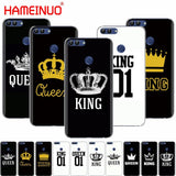 Trendy HAMEINUO king queen couple cell phone Cover Case for huawei Honor 7C  Y5 Y625 Y635 Y6 Y7 Y9 2017 2018 Prime PRO AT_94_13