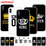 Trendy HAMEINUO king queen couple cell phone Cover case for iphone X 8 7 6 4 4s 5 5s SE 5c 6s plus AT_94_13