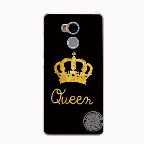 Trendy HAMEINUO king queen print gold white black Cover phone  Case for Xiaomi redmi 4 4x 1 1s 2 3 3s  pro note 5 4 4X 4A 5A plus AT_94_13