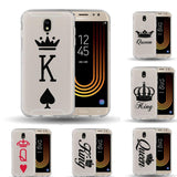 Trendy For Coque Samsung Galaxy J3 J5 J7 2015 2016 2017 Case King queen soft silicone Case Cover for Samsung Galaxy J530 Cover Case AT_94_13