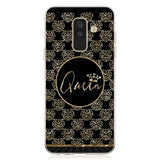 Trendy King Queen princess pattern Soft TPU Silicone clear frame back Phone Case for Galaxy A6 A6+ A8 2018 A8+ A3 A5 A7 2017 AT_94_13