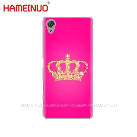 Trendy HAMEINUO Queen and king crown Coque Cover phone Case for sony xperia z2 z3 z4 z5 mini plus aqua M4 M5 E4 E5 E6 C4 C5 AT_94_13