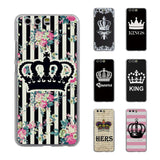 Trendy Luxury Couple King and Queen Crowns Thin transparent phone Cover Case for Huawei P10 P10lite P20 Lite P8 P9 lite Mate10 Lite AT_94_13