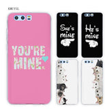 Cool KMUYSL King Queen Your Mine TPU Transparent Soft Case Cover for Huawei Honor 9 8 Lite 7X 6A 6X 6C Pro 10AT_93_12