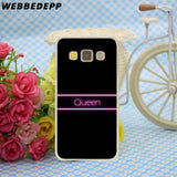 Cool WEBBEDEPP Queen & King Couple Case for SamSung Galaxy A8 A7 A6 Plus A5 A3 2018 2017 2016 2015 CoverAT_93_12