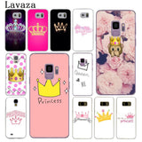 Cool Lavaza PRINCESS Queen boss crown king Hard Phone Cover Case for Samsung Galaxy S8 Plus S9 Plus S3 S4 S5 S6 S7 Edge CasesAT_93_12
