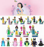 Cool Figurine Legoings Princess Prince Anna Elsa Mermaid Cinderella Rapunzel Belle Snow White Ice Queen Figurines Toys for ChildrenAT_93_12