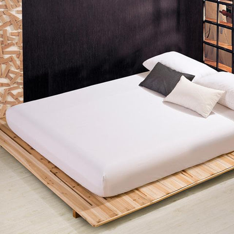 Cool New 100% Polyester/Cotton Mattress Cover Twin Full Queen King Size Fitted Bed Sheets 1Pcs Solid Color Fitted Sheet Free ShippingAT_93_12