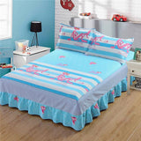 Cool New butterfly love flowers print bedspread 100% cotton bed skirt bed sheet bedding bed set full queen king size hello kitty bedAT_93_12