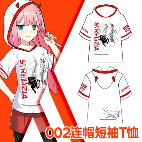 DARLING in the FRANXX Strelizia 016 02 Cosplay Causel T-shirt Hoody Top