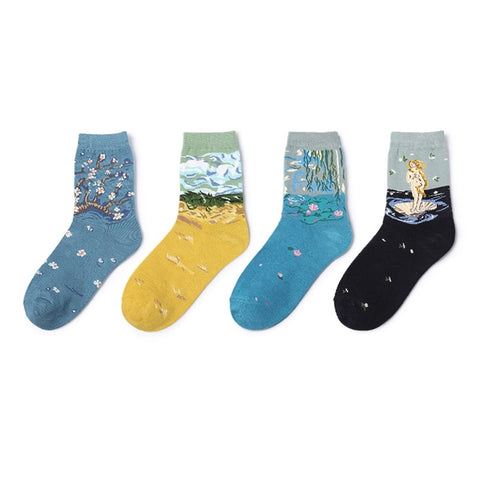 Nice Autumn Winter Chinese Knot Art Men Socks Embroidery Fu Character Brand Retro Vintage Crew Cotton Male Festive Tube Socks Underwear & Sleepwears
