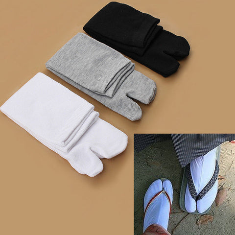 1 Pair Fashion Japanese Kimono Flip Flop Sandal Split Toe Tabi Ninja Geta Socks Hot Sale Drop Shipping