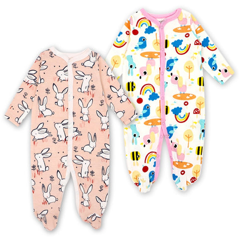 286aafd29 2 Pack Baby Boys Girls Clothes Newborn Babies Winter Sleepwear ...