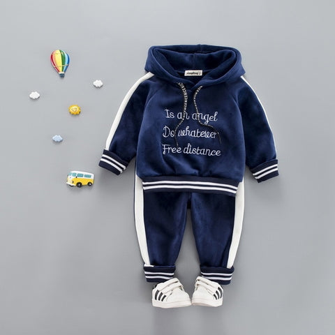c32bdc84e 2018 Autumn Winter Baby Girls Boys Clothing Sets Kids Casual Letter ...
