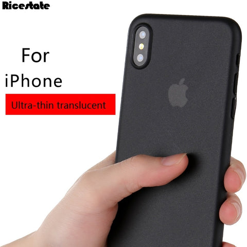 0.3mm Ultra Thin Case For iphone X XR XS MAX Translucent Matte PP Back Cover Case for iphone X R XS XSMAX Case 10 Pcs/lot