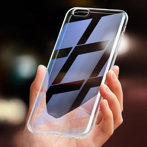 ec2106942 100 PCS Wholesale Transparent Black Silicone TPU Soft Phone Case For iPhone  5 5s se 6