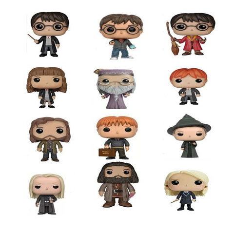 10cm Harry potter Figure Doll Quidditch Potter Hermione Malfoy Dumbledore Minerva Luna Dobby Action Figure Toy Kids Christmas