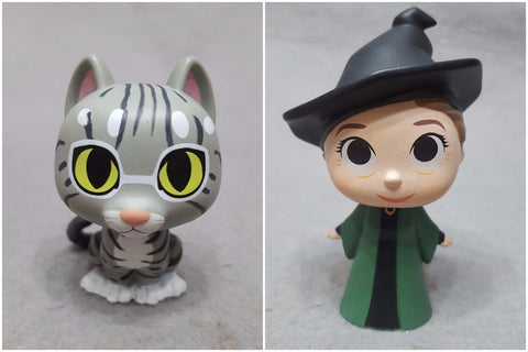 *NO BOX* ORIGINAL FUNKO Mystery Minis Harry Potter PROFESSOR MINERVA McGONAGALL / CAT  1/72 Vinyl Figure