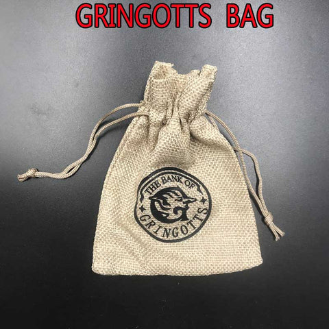 1 Pc Harri Potter Gringotts Galleons Sickels Knut Gringotts Coin Gift Bag Cosplay Toy Children Harry Potter Party Show Gift Toys