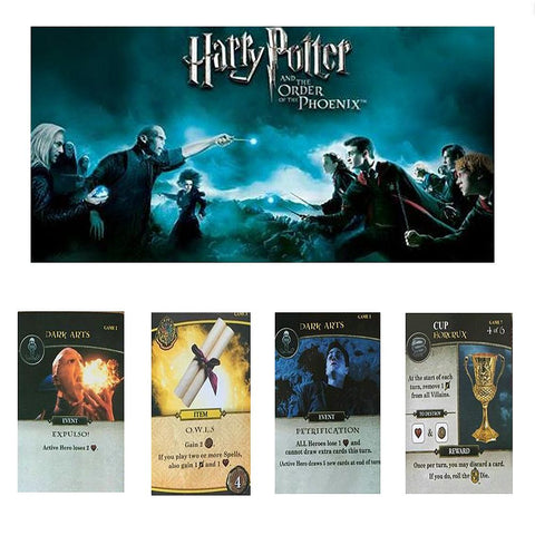 108 pcs/lot Harry Potter Collection Cards Harry Potter Voldemort Hermione Ron Death Eater Action Figure Card Kid Toy