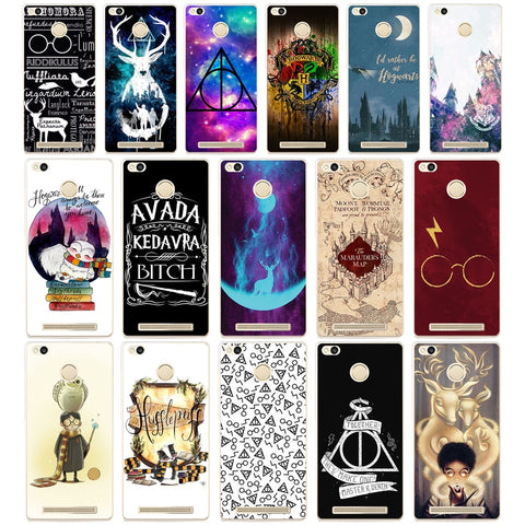 072AA  Harry Potter Hogwarts  Hard Transparent  Cover Case for Xiaomi Redmi 3S 3Pro 4a 5 plus Note 4 4x 5a 4pro Mi5 mi a1