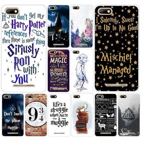 09DF always Harry Potter Deathly Hard Transparent TPU Silicone  Case cover for BQ Strike 5020 BQ Aquaris X  X5 Plus
