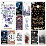 09DF always Harry Potter Deathly Hard Transparent  Cover Case for Xiaomi Redmi 3S 3Pro 4a 5 plus Note 4 4x 5a 4pro Mi5 mi a1
