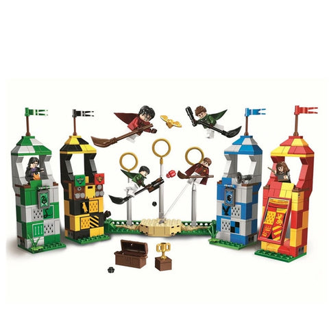 New Harry Potter Movie Quidditch Match Building Blocks Bricks Toys For Children Compatible With Lego 75956 75954 75955 75953