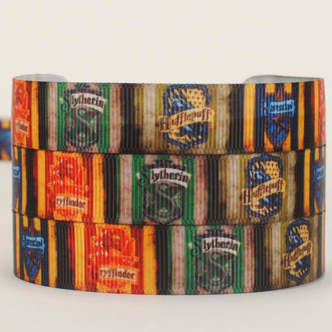 "10 yards 5/8 ""15mm  New arrivals sale hot  Harry potter  pattern Grosgrain cartoon ribbon tape Free shipping"