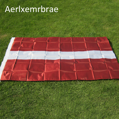 free shipping aerlxemrbrae flag Latvia Flag 90x150cm/ 3x5 Feet Flags Home Decoration Hanging Flag Banner