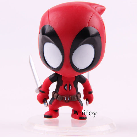 Marvel Xmen Cosbaby Deadpool Action Figure Kidpool Bobble Head Dolls PVC Collectible Model Toy