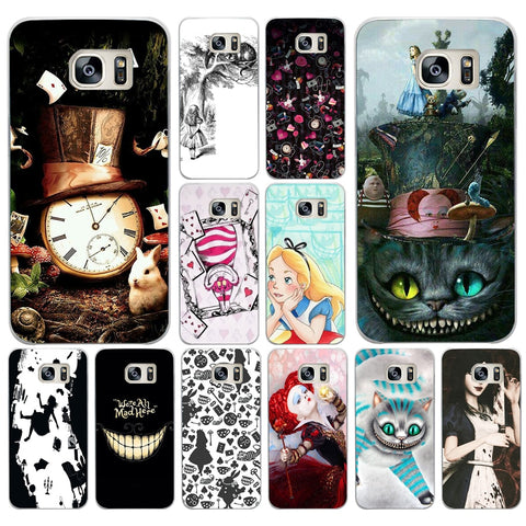 08DF Alice in Wonderland Hard Cover Case for Samsung Galaxy S4 S5 Mini S6 S6 S8 S9 edge plus S7 Edge