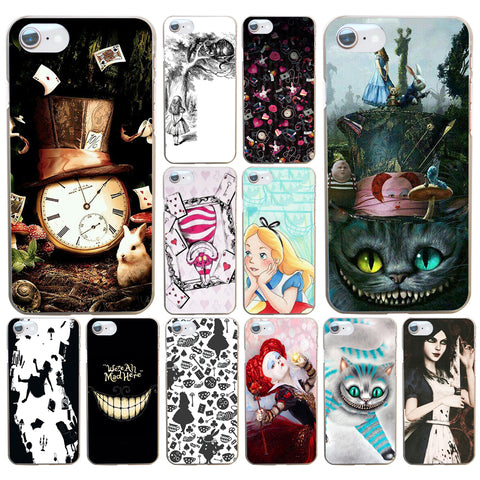 08DF Alice in Wonderland Hard Transparent Cover Case for iphone 4 4s 5 5s se 6 6s 8 plus 7 7 Plus X