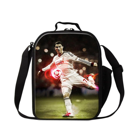 42430a1f0403 Customized Insulated Lunch Bag Neymar Cooler Bag Small Lunch Box Portable  Soccers Thermal Lunch Conatiner for Boys Meal Bag Kids